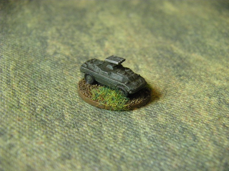 1/300th Scale Modern Polish or warpac BRDM1 and Swatter from Skytrex for CWC